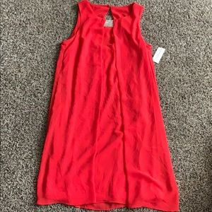 Red spring cocktail dress